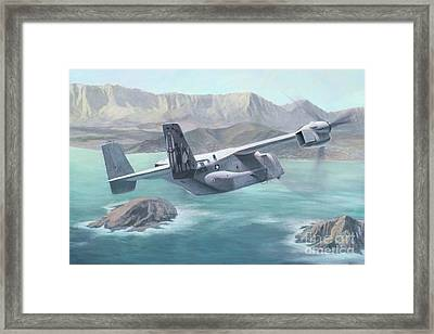 Osprey Over The Mokes Framed Print