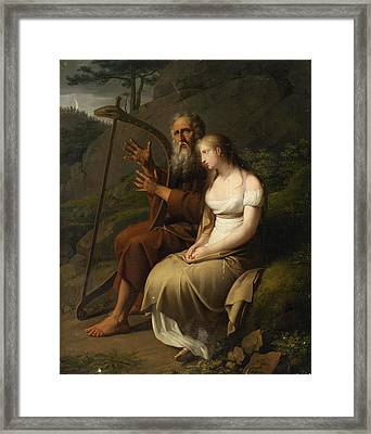 Ossian And Malvina Framed Print by Johann Peter Krafft
