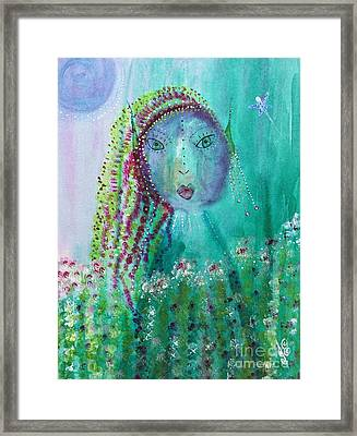 Ostara Framed Print by Julie Engelhardt