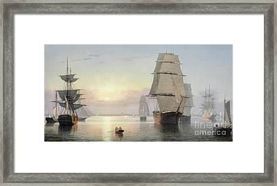 Boston Harbor, Sunset Framed Print