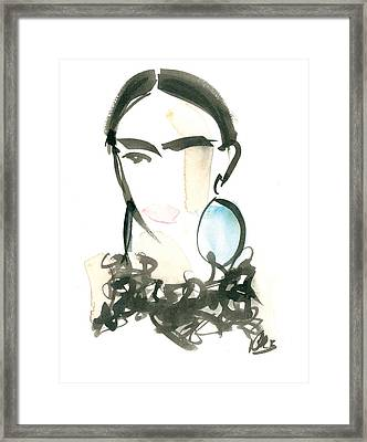 Ostrich Collar Framed Print