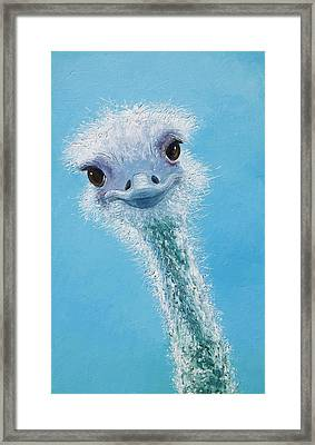 Ostrich Painting Framed Print by Jan Matson