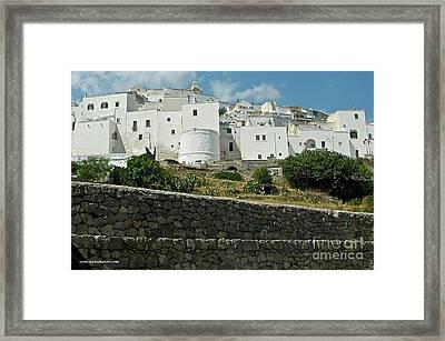 Ostuni, Puglia Framed Print by Italian Art
