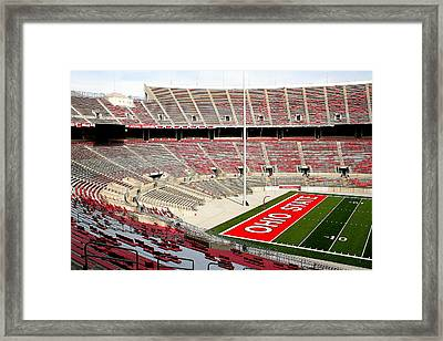 Osu Football Stadium Framed Print by Laurel Talabere