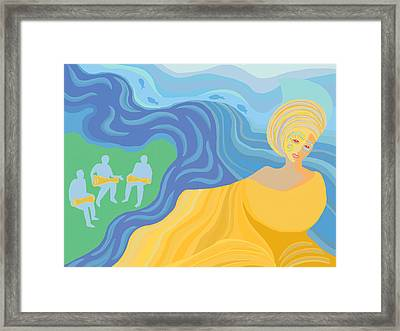 Osun Dancer Framed Print