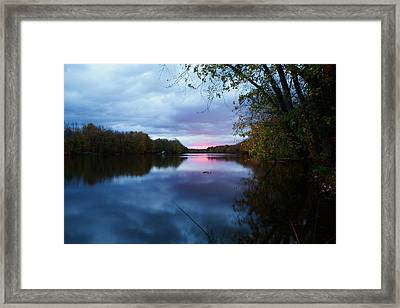 Oswego River Framed Print by Everet Regal