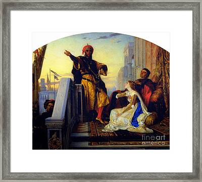 Othello Relating His Battles Framed Print by MotionAge Designs
