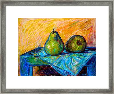 Other Pears Framed Print by Kendall Kessler