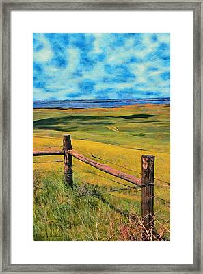 Framed Print featuring the painting Other Side Of The Fence by Jeff Kolker