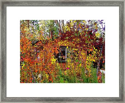 Other Side Of The Leaves Framed Print