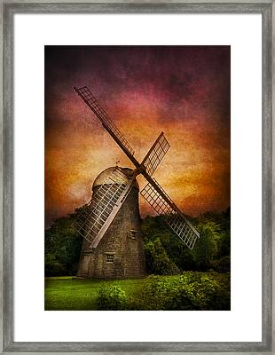 Other - Windmill Framed Print by Mike Savad