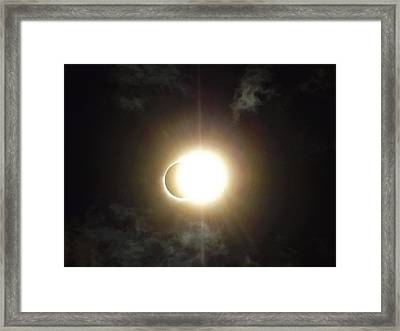Otherworldly Eclipse-leaving Totality Framed Print
