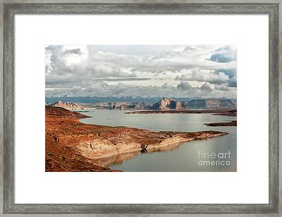 Otherworldly Morning At Lake Powell Framed Print by Sandra Bronstein