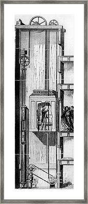 Otis Elevator, 1880 Framed Print by Granger