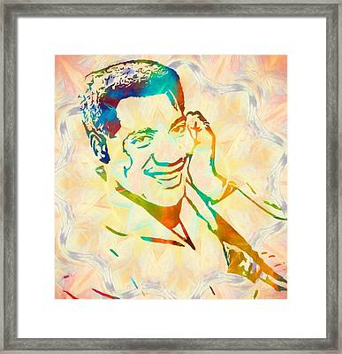 Otis Redding Funky Framed Print by Dan Sproul