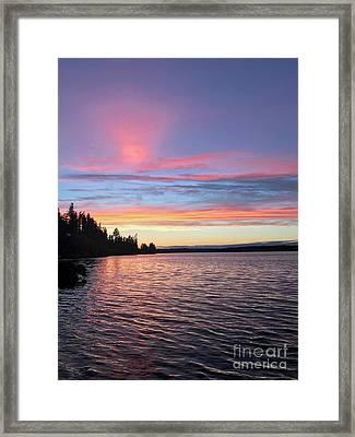 Otso Point Sunset Framed Print