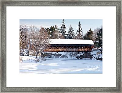 Ottaquechee Middle Bridge Framed Print by Susan Cole Kelly