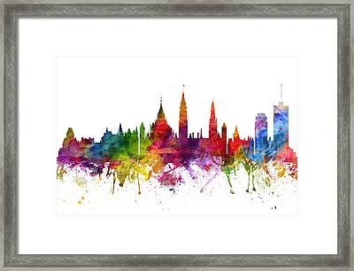 Ottawa Canada Cityscape 06 Framed Print by Aged Pixel