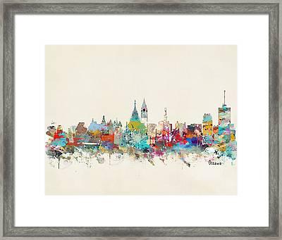 Ottawa Canada Skyline Framed Print by Bri B