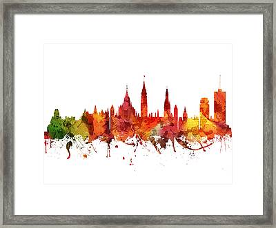 Ottawa Cityscape 04 Framed Print by Aged Pixel