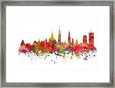 Ottawa Cityscape 08 Framed Print by Aged Pixel