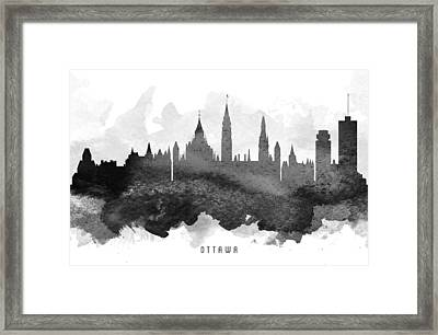 Ottawa Cityscape 11 Framed Print by Aged Pixel