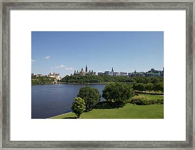 Framed Print featuring the photograph Ottawa by Josef Pittner