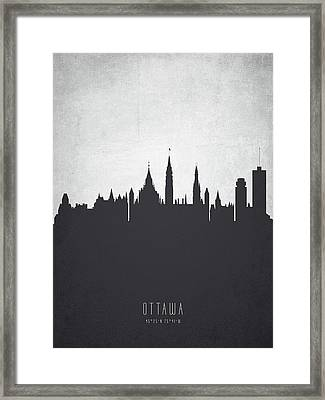 Ottawa Ontario Cityscape 19 Framed Print by Aged Pixel
