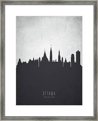 Ottawa Ontario Cityscape 19 Framed Print
