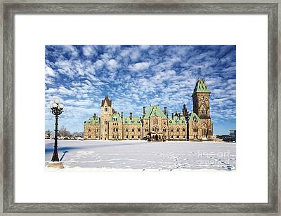 Ottawa Parliament East Block Framed Print