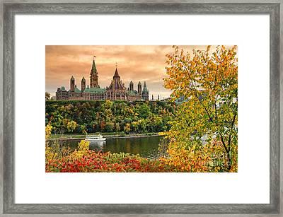 Ottawa Parliament Hill Autumn Framed Print