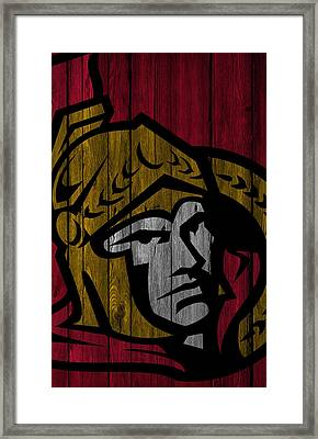 Ottawa Senators Wood Fence Framed Print by Joe Hamilton
