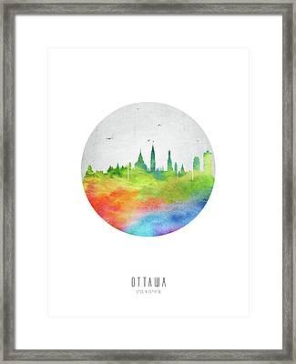 Ottawa Skyline Caonot20 Framed Print by Aged Pixel