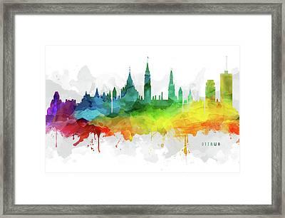 Ottawa Skyline Mmr-caonot05 Framed Print by Aged Pixel