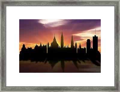 Ottawa Skyline Sunset Caonot22 Framed Print