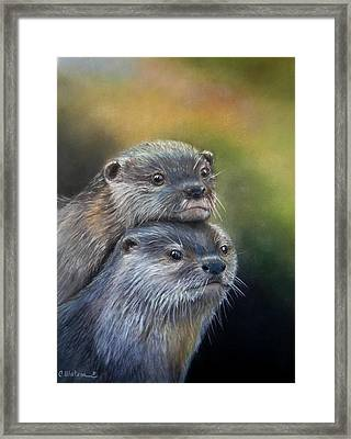 Otter Be Two Framed Print