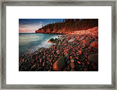 Framed Print featuring the photograph Otter Beach Main After The First Light  by Emmanuel Panagiotakis