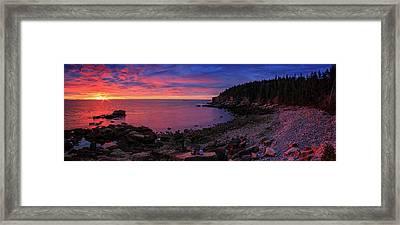 Framed Print featuring the photograph Otter Beach Maine Sunrise  by Emmanuel Panagiotakis