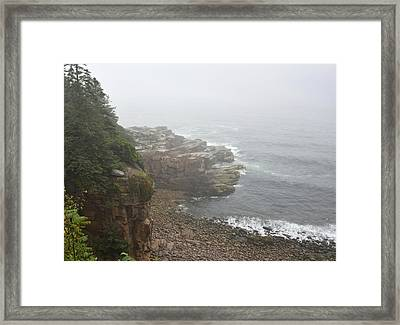 Otter Cliffs - Acadia National Park Maine Framed Print by Brendan Reals