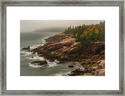Framed Print featuring the photograph Otter Cliffs by Gary Lengyel