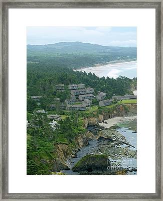 Otter Crest  Framed Print by Methune Hively