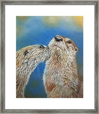Otter Love Framed Print