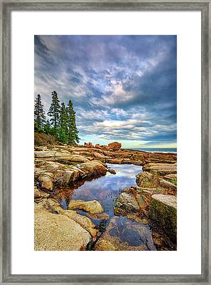 Otter Point Reflections Framed Print