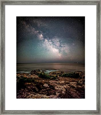 Otter Point Under The Stars. Framed Print by Brent L Ander