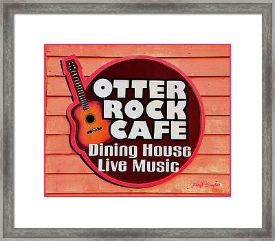 Otter Rock Cafe Morro Bay California Framed Print