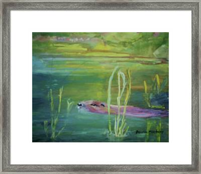 Otters World Framed Print