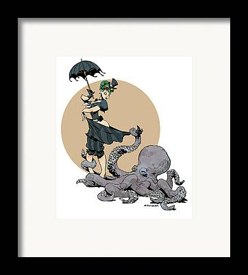 Otto By The Sea Framed Print by Brian Kesinger
