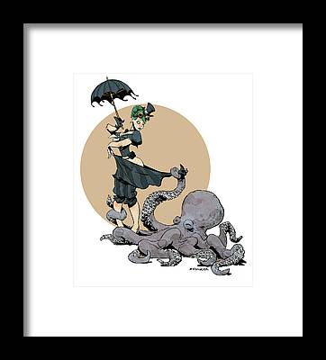 Otto By The Sea Framed Print