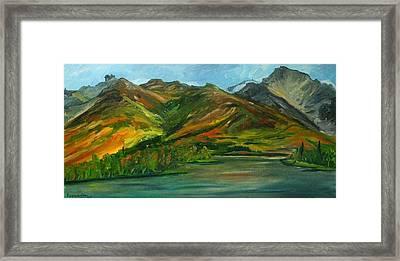 Otto Lake Framed Print by Amy Reisland-Speer