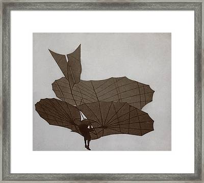 Otto Lilienthal 1848-1896 Flying Framed Print